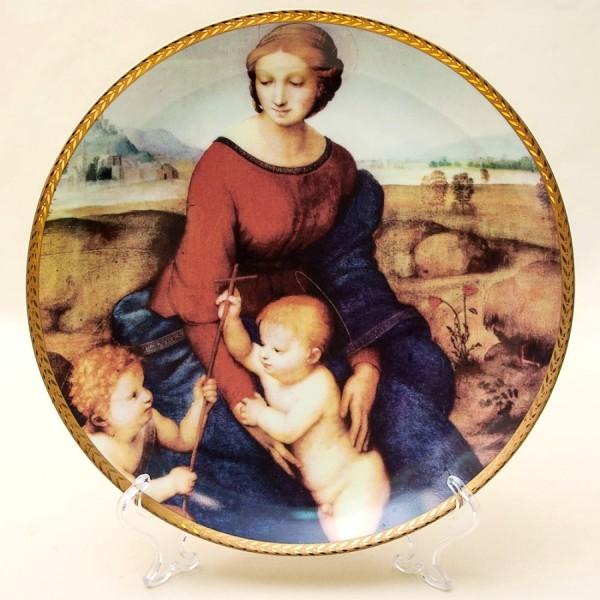 Коллекционная Тарелка «Мадонна Бельведерская» Фарфор, Португалия -1993 год.