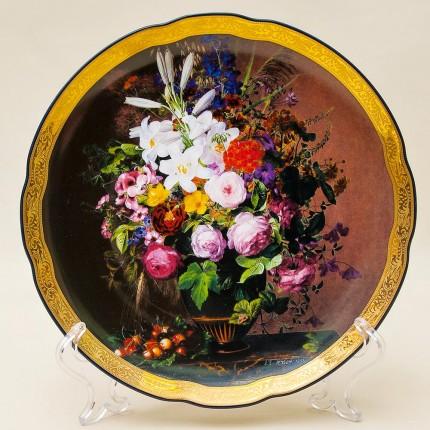 Коллекционная Тарелка «Букет с вишнями» Фарфор Grande Copengagen Дания.