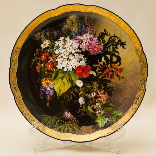 Коллекционная Тарелка «Букет с листьями» Фарфор Grande Copengagen Дания.