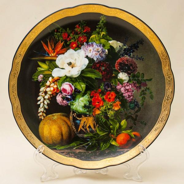 Коллекционная Тарелка «Букет с осенними дарами» Фарфор Grande Copengagen Дания.