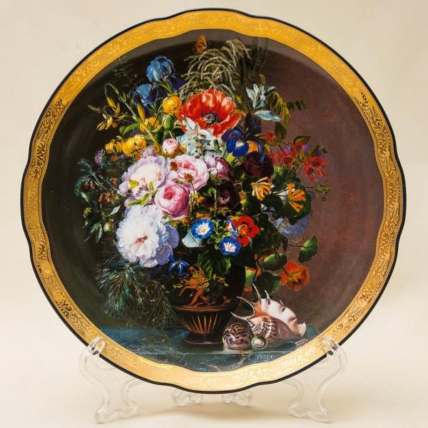 Коллекционная Тарелка «Букет с раковинами» Фарфор Grande Copengagen Дания.