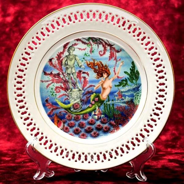 Коллекционная Тарелка «Сказки - РУСАЛОЧКА» Фарфор, B&G Copenhagen - Дания.