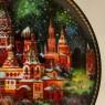 Коллекционная Тарелка «СОБОР ВАСИЛИЯ БЛАЖЕННОГО» Фарфор - ЛФЗ, СССР -1990 год.
