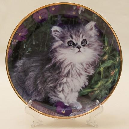 Коллекционная Тарелка «Персидский котенок» США, The FRANKLIN MINT - 80-е годы ХХ века.