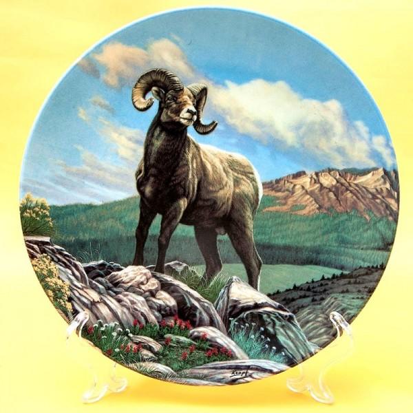 Коллекционная Тарелка Охота - «Толсторогий Баран», Фарфор DOMINION Canada LTD. -1989 год.