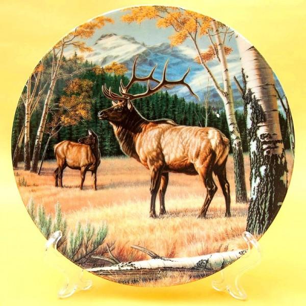 Коллекционная Тарелка Охота - «Благородный Олень», Фарфор DOMINION Canada LTD. -1989 год.