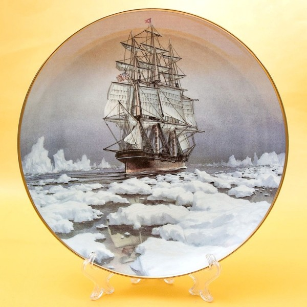 Коллекционная Тарелка «Парусные Корабли RED JACKET» Фарфор США, The FRANKLIN MINT -1981 год.