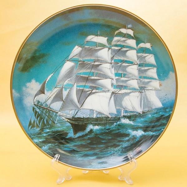 Коллекционная Тарелка «Парусные Корабли СUTTI CARK» Фарфор США, The FRANKLIN MINT -1981 год.