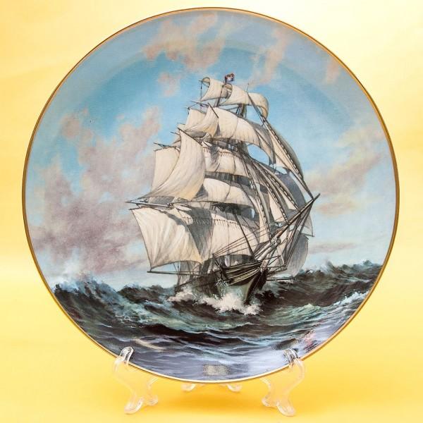 Коллекционная Тарелка «Парусные Корабли THERMOPLAE» Фарфор США, The FRANKLIN MINT -1981 год.