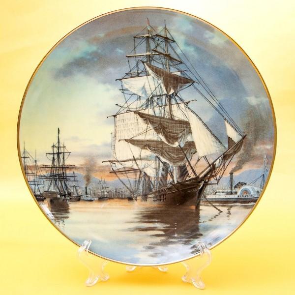 Коллекционная Тарелка «Парусные Корабли FLYING CLOUD» Фарфор США, The FRANKLIN MINT -1981 год.