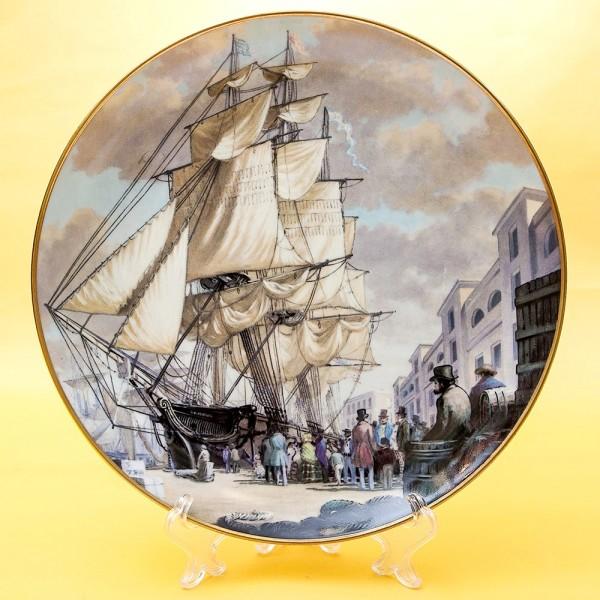 Коллекционная Тарелка «Парусные Корабли ORIENTAL» Фарфор США, The FRANKLIN MINT -1981 год.