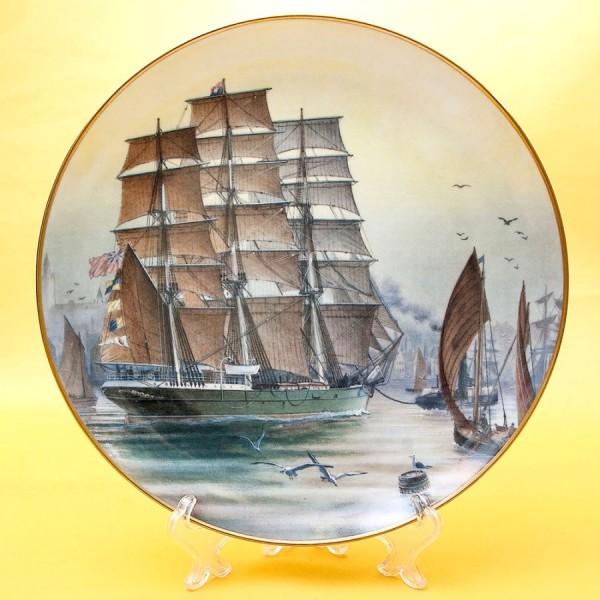 Коллекционная Тарелка «Парусные Корабли PATRIARCH» Фарфор США, The FRANKLIN MINT -1981 год.