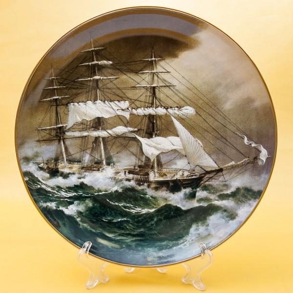 Коллекционная Тарелка «Парусные Корабли NIGHTINGALE» Фарфор США, The FRANKLIN MINT -1981 год.