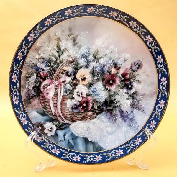 Коллекционная Тарелка «Цветы - Анютины Глазки» Фарфор W.J.GEORGE США -1992 год.