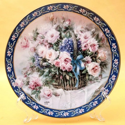 Коллекционная Тарелка «Цветы - Розы» Фарфор W.J.GEORGE США -1992 год.