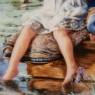 Коллекционная Тарелка «Рыбалка - Терпение» Фарфор RECO США -1991 год.
