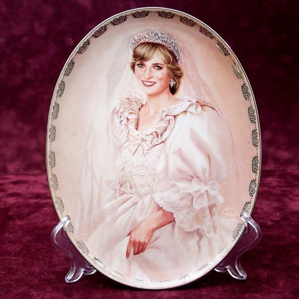Коллекционная Тарелка «Принцесса Диана - Королева Наших Сердец» Фарфор США -1997 год.
