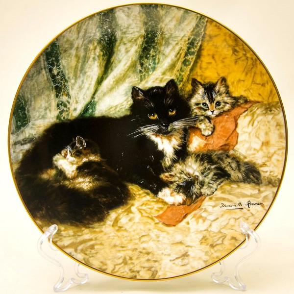 Коллекционная Тарелка «Викторианские кошки» - «Полуденный отдых» Фарфор США -1992 год.