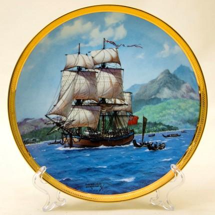 Коллекционная Тарелка «Парусные Корабли - ENDEAVOUR» Фарфор США, The FRANKLIN MINT -1987 год.