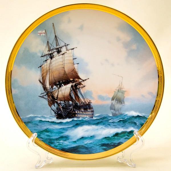 Коллекционная Тарелка «Парусные Корабли -VICTORY» Фарфор США, The FRANKLIN MINT -1987 год.