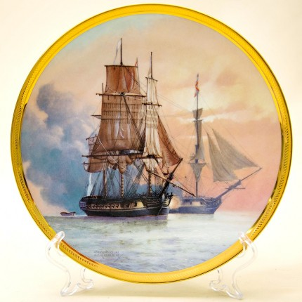 Коллекционная Тарелка «Парусные Корабли - LA BELLE POULE» Фарфор США, The FRANKLIN MINT -1987 год.