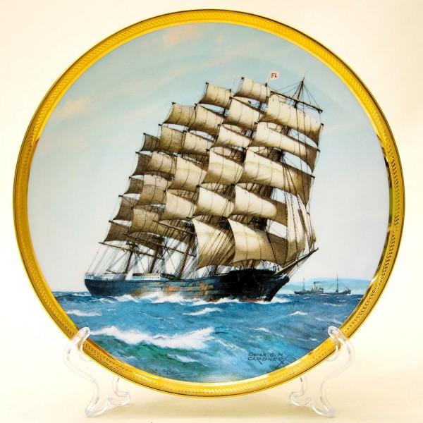 Коллекционная Тарелка «Парусные Корабли - PREUSSEN» Фарфор США, The FRANKLIN MINT -1987 год.