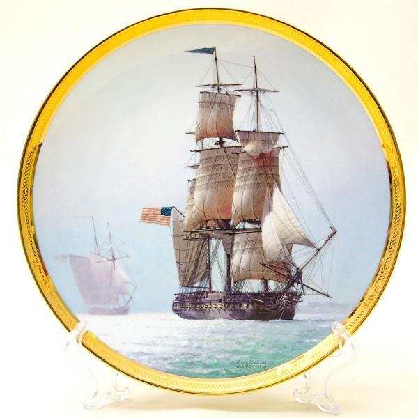 Коллекционная Тарелка «Парусные Корабли -CONSTITUTION» Фарфор США, The FRANKLIN MINT -1987г.