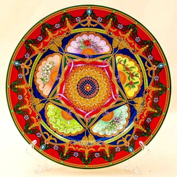 Коллекционная Тарелка - Блюдо «МИР» Фарфор, VERSACE, Rosenthal Германия -2005 год.