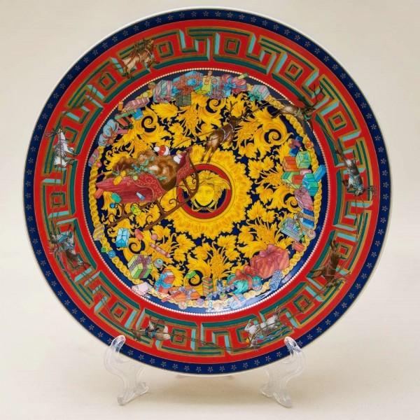 Коллекционная Фарфоровая Тарелка «Рождественское Торжество» VERSACE, Rosenthal -2004 год.
