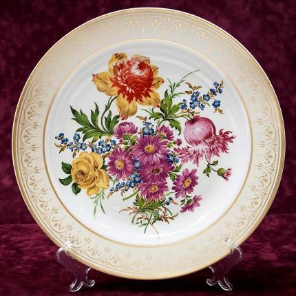 Коллекционная Авторская  Тарелка - Блюдо «Sanssouci» Фарфор KAISER Германия D -32 см.