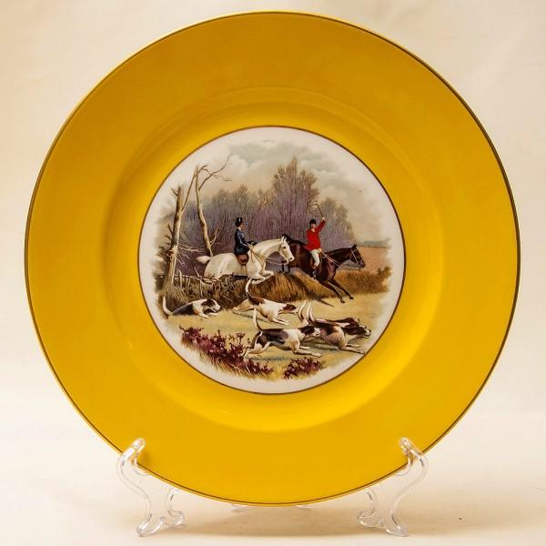 Суппер Редкость! Тарелка - Блюдо «ОХОТА НА ЛИС» Фарфор Rosenthal Германия -1939 год.
