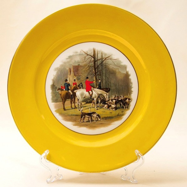 Редкость! Тарелка - Блюдо «ОХОТА НА ЛИС» Фарфор Rosenthal Германия -1939 год.