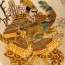 Винтажная Ваза «Самурай» в технике Мориаж Фарфор, Сацума SATSUMA, Япония 50-е годы ХХ века.
