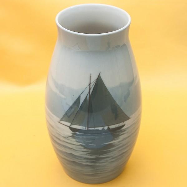 Коллекционная  Фарфоровая Ваза «Парусник», B&G Copenhagen Porcelain, Дания - 1958-1962гг.