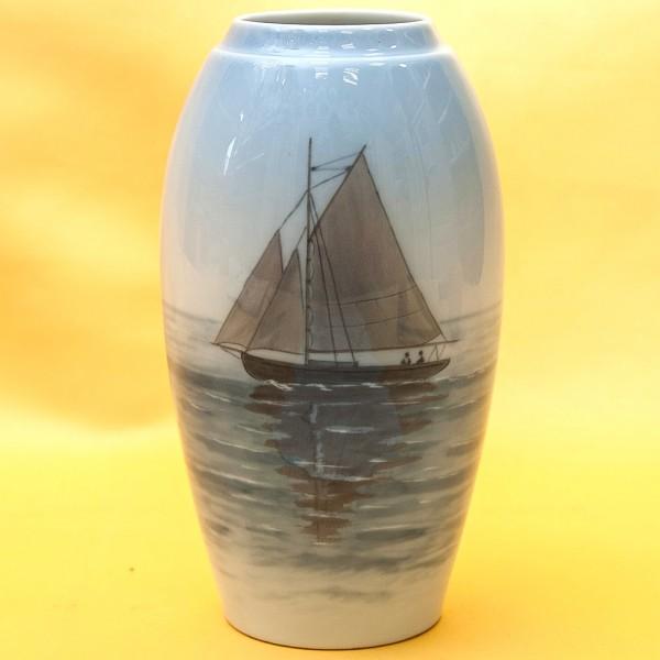 Фарфоровая Ваза «Парусник», B&G Copenhagen Porcelain, Дания - 1962-1970гг.