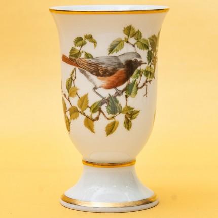 Винтажный Фарфоровый Бокал - Ваза «Певчие Птицы -V» Франция -1981 год.