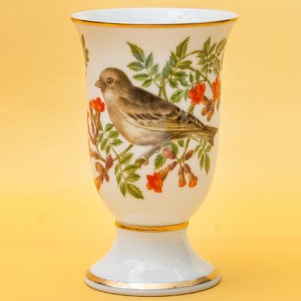 Винтажный Фарфоровый Бокал - Ваза «Певчие Птицы -VI» Франция -1981 год.