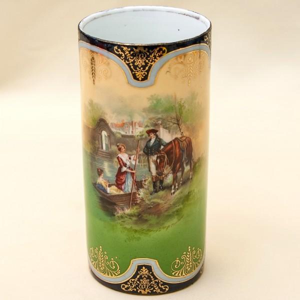 Винтажная Ваза «Встреча у реки» Royal Vienna Style, Германия начало прошлого века.