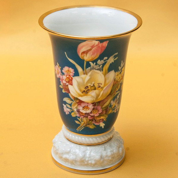 Антикварная Коллекционная Ваза «Цветы на голубом» Фарфор ROSENTHAL Германия -1928 год.