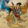 Декоративное Винтажное Яйцо в технике Мориаж Фарфор Китай, Сацума SATSUMA - 50 -е годы ХХ века.