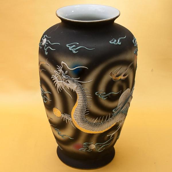 Винтажная Ваза «Серый дракон» в технике Мориаж Фарфор Япония 50-е годы ХХ века.