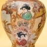 Винтажный Вазон «Золотые Грёзы» в технике Мориаж Фарфор Япония, Сацума SATSUMA - 50-гг.