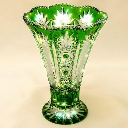 Коллекционная Ваза Зелёного Хрусталя JOSKA BODENMAIS Германия Н-21 см., конец 60-х гг.