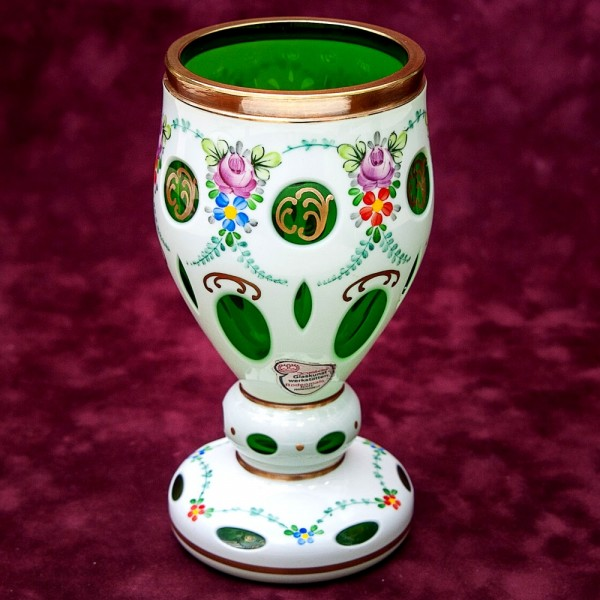 Стеклянная Ваза - Кубок «Цветочная Нежность» JOSKA BODENMAIS Германия -60-е годы ХХ века.