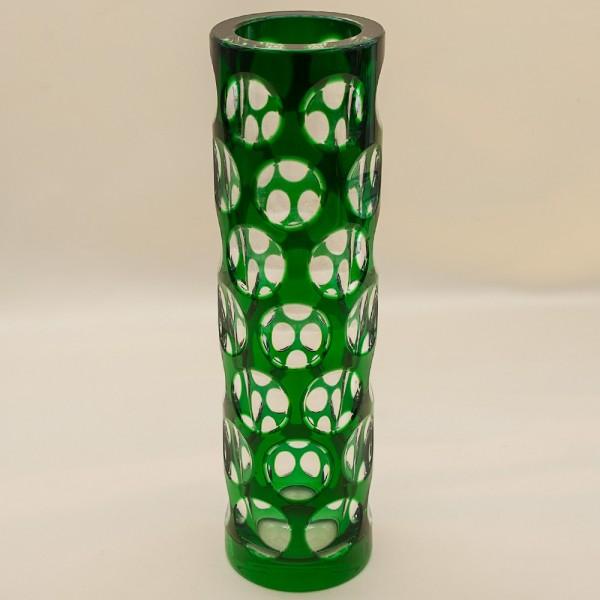 Коллекционная Ваза «Таüsend Aügen» Зелёного Хрусталя WMF Crystal Cabinet Германия.
