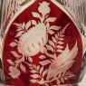 Коллекционная Ваза - Кубок, Рубиновый Хрусталь, Witti Западная Германия, середина ХХ века.