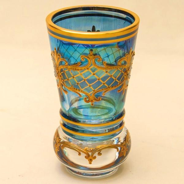 Коллекционная Ваза - Кубок, Золотая роспись, Хрусталь Witti,  Германия 50-е годы ХХ века.