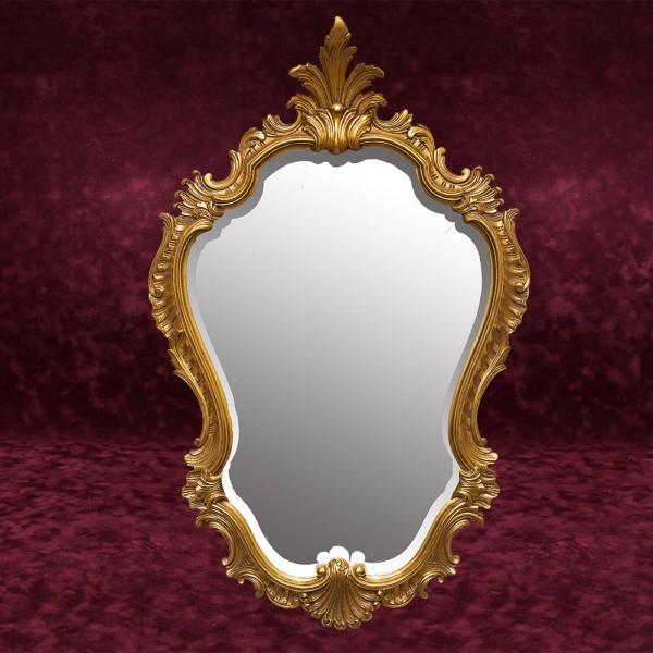 Большое Винтажное Настенное Фигурное Зеркало 82 см. х 53 см. Бельгия