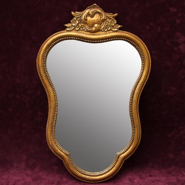 Зеркало Настенное Фигурное в Деревянной раме Франция 52 см. х 35 см.