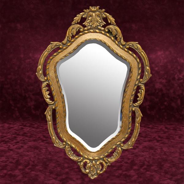Винтажное Зеркало Настенное Фигурное в Деревянной раме  70 см. х 47 см. Франция.